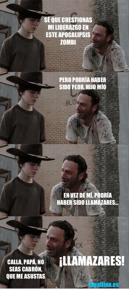 meme-gallina-llamazares-walking-dead