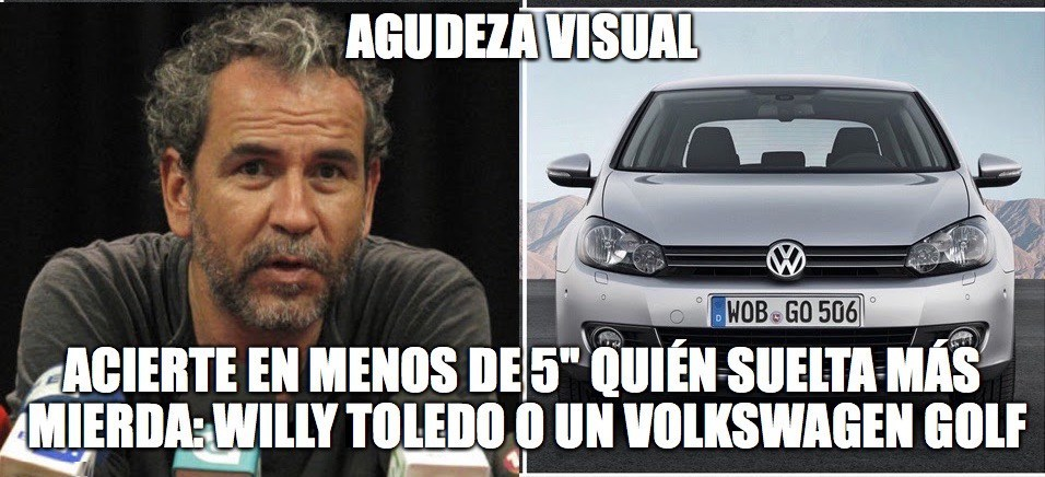 willy_toledo_volkswagen_golf_mas_mierda_Gallina_Ilustrada