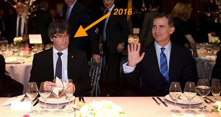 puigdemont_no_sonrie_felipe_VI_World_mobile_congress_2016_Gallina_Ilustrada